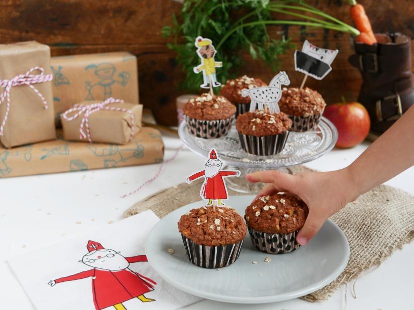Sinterklaas muffins met appel || cookedbyrenske