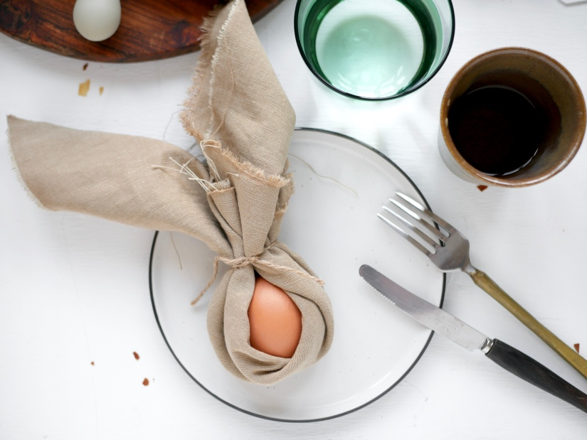 Pasen brunchtafel || Paashaas servet || cookedbyrenske