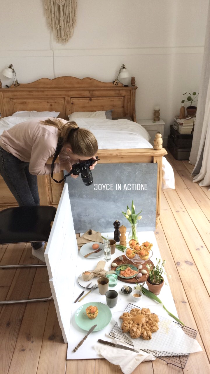 Joyce in actie || behind the scenes foodphotography || cookedbyrenske